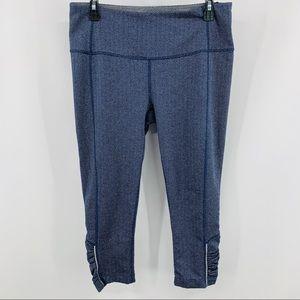 Mondetta Blue & Gray Cropped Leggings